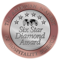, Star Diamond Award – The International Rating Bureau for Restaurants, Hotels, and Individuals, AMERICAN ACADEMY OF HOSPITALITY SCIENCES