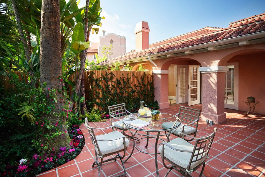 Marilyn Monroe Bungalow Patio Beverly Hills Hotel